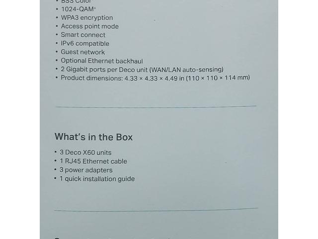 Router DECO Next-Gen AX3000 MESH WIFI SYSTEM - 4